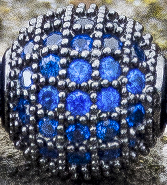Blue CZ Diamonds Close-up