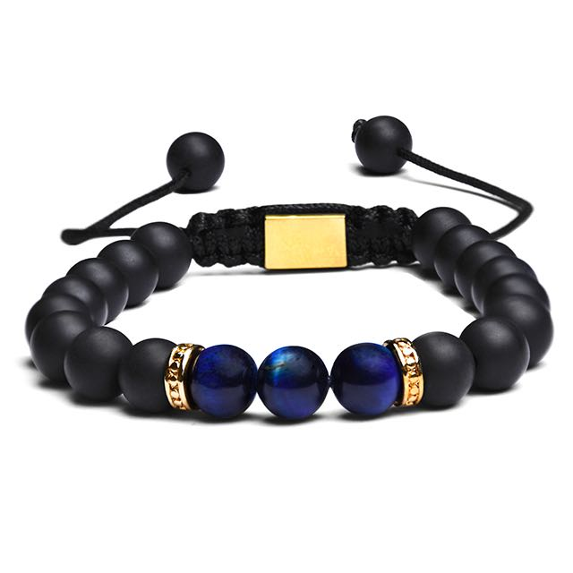 Gold Blue Imperial Bracelet