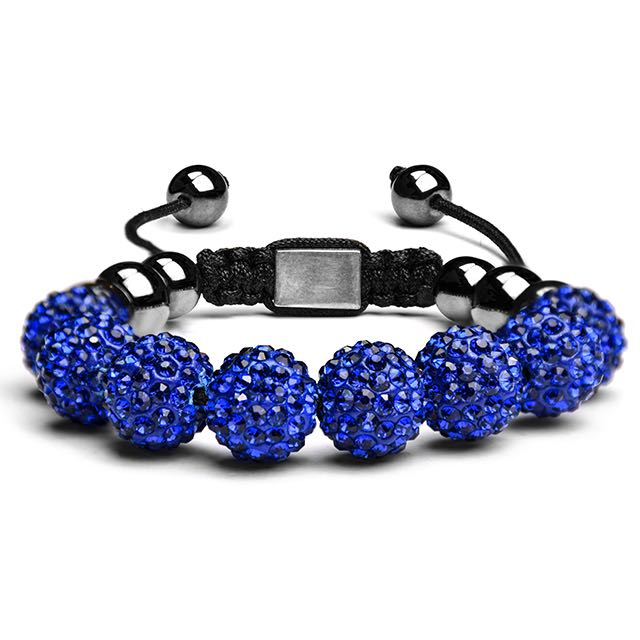 Royal Blue Crystal Shamballa Bracelet