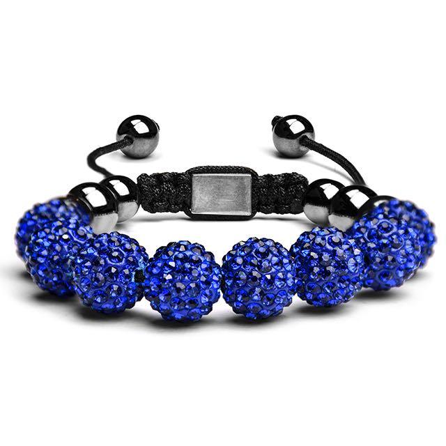 Royal Blue Crystal Shamballa Bracelet