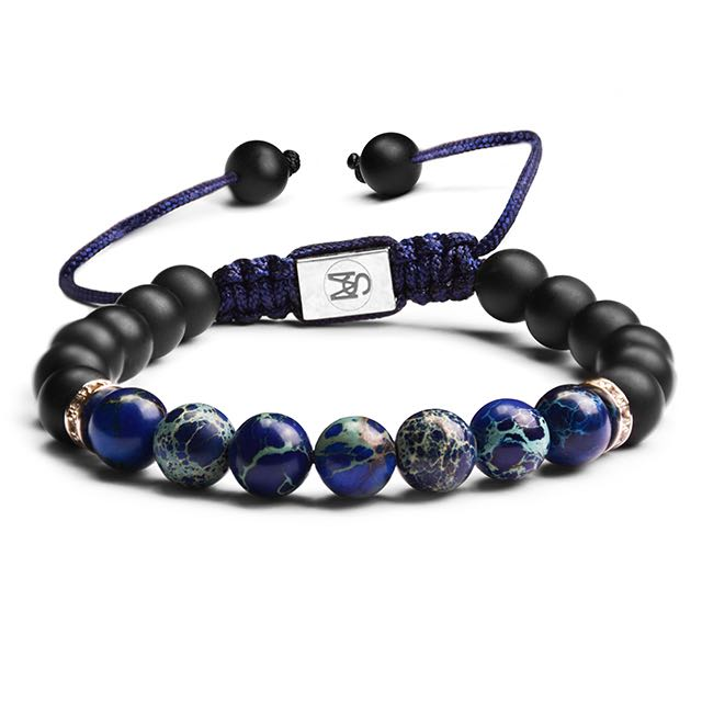Ocean Sea Blue Sediment Bracelet