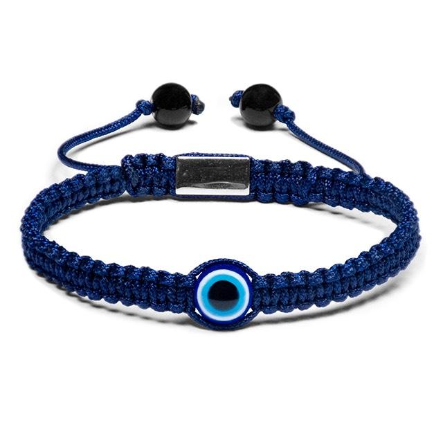 Blue Evil Eye Shamballa Bracelet