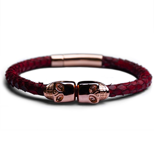 Red Python Rose Gold Skull