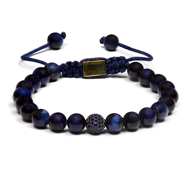 Blue Tiger Eye Shamballa Bracelet